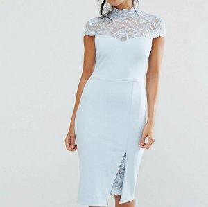 Asos NWOT bluw lace dress